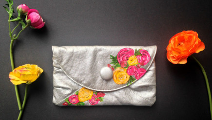 Painted Thrift Store Clutch